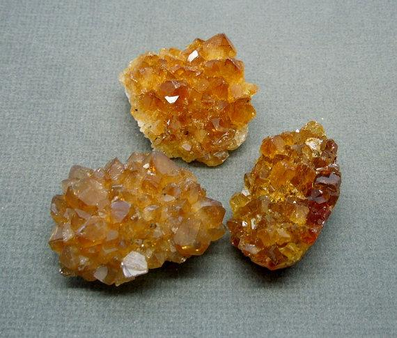 Citrine - Citrine Cluster Cabochon Flat Back Perfect For Jewelry Making Crystal Grids Rock Collections OB8B22