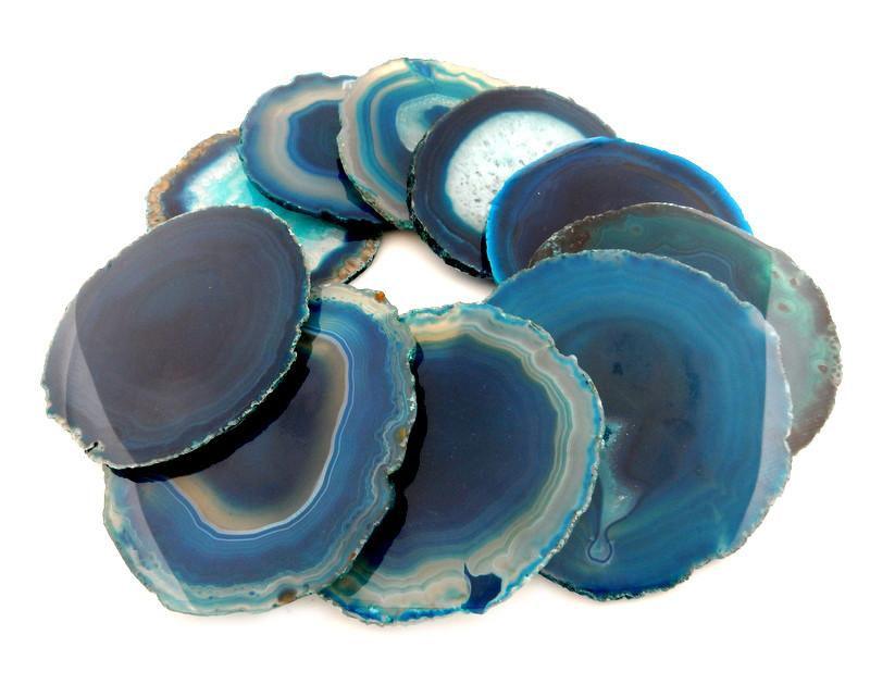 "Coasters - Agate Coasters 3"" To 5.5"" - Mixed Colors Sets"