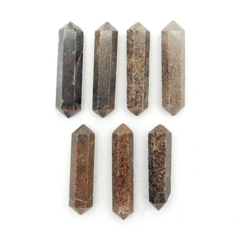 Double Terminated - Garnet Double Terminated Pencil Point - Metaphysical - Chakra - Crystal Grids - Wire Wrapping  (RK38B6b-02)