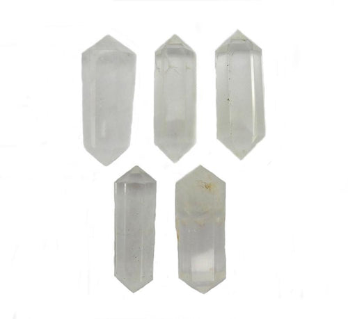 Double Terminated - Petite Crystal Quartz Double Terminated Pencil Point - Reiki - Metaphysical - Chakra -Crystal Grids (RK38B1b)