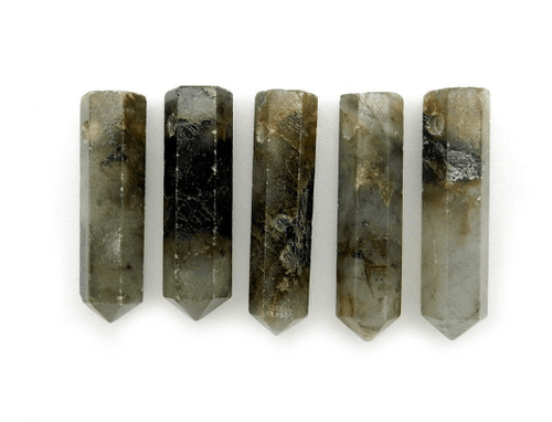 Labradorite Pencil Point Bead -  Labradorite Point Top Side Drilled Bead - (RK81B16)