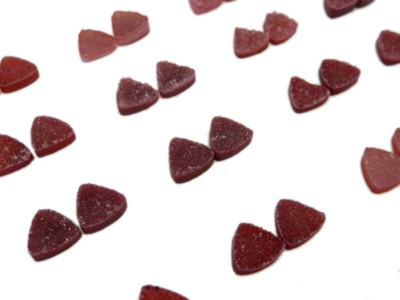 Druzy Cabochon - Red Triangle Druzy Pair - Beautiful 10mm Triangle Shaped Druzy - Jewlery Supplies -  Druzy Stones