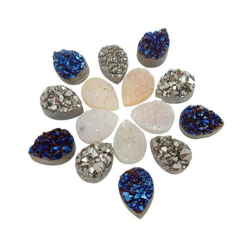 Jewelry settings rock paradise druzy titanium treated mystic druzy cabochon top drilled for bail rk128b5 aloadofball Images