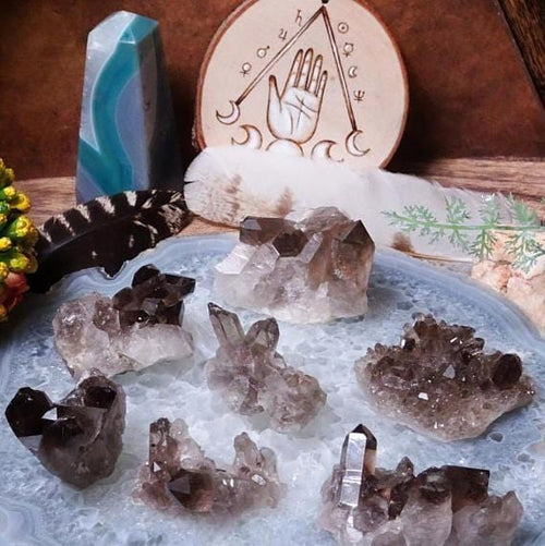 Druzy - Various Smokey Quartz Clusters - Perfect For Jewelry Making (OB10B5)