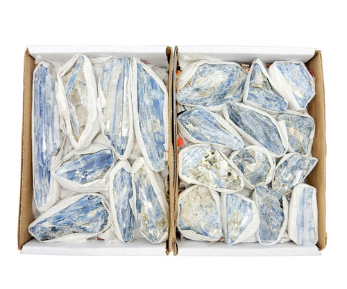 Flat Boxes - Blue Kyanite Blades Large By The Piece 1, 5, Or 10 Pieces  (RK18TS)