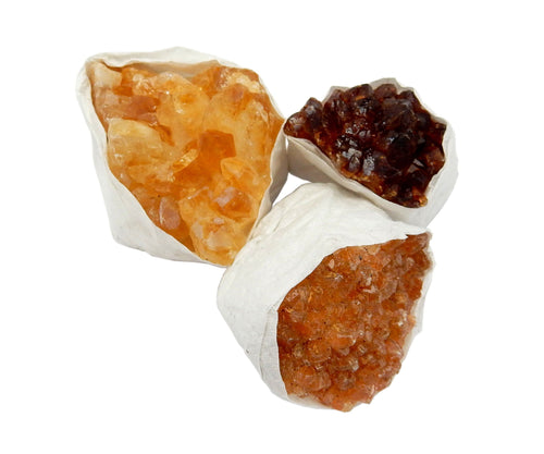 Flat Boxes - Citrine Cluster By Piece (RKCPTS-B) 1 Piece