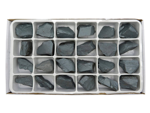 Flat Boxes - Hematite Chunk By Box - Box Of 24 Pieces Wire Wrapping - Jewelry Making - Chakra Stone- Reiki - Spiritual - Meditation - (RK197TS)