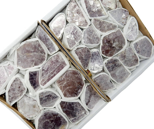 Flat Boxes - Lepidolite Chunk Flat Box - Box Of 12-16 Pieces - (RK23TS)