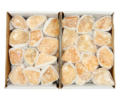 Flat Boxes - Orange Calcite Flat Box - Approx. 12 Piece Box (S116TS)