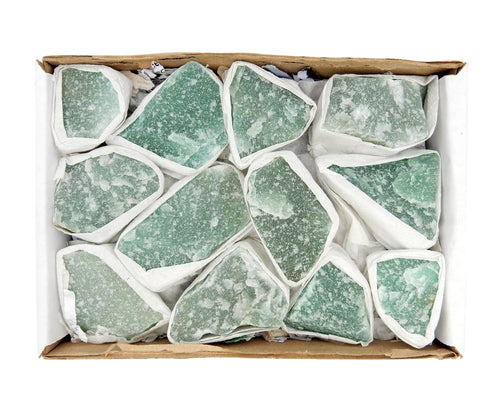 Flat Boxes - Rough Green Quartz Flat Box Full Box Of Stones (S86TS)