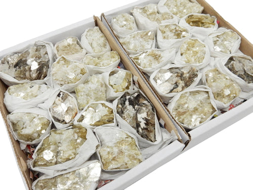 Flat Boxes - Star Mica Cluster Full Box - Raw Mica Pieces - Box Of 12-16 - Crystal Decor (S91TS)