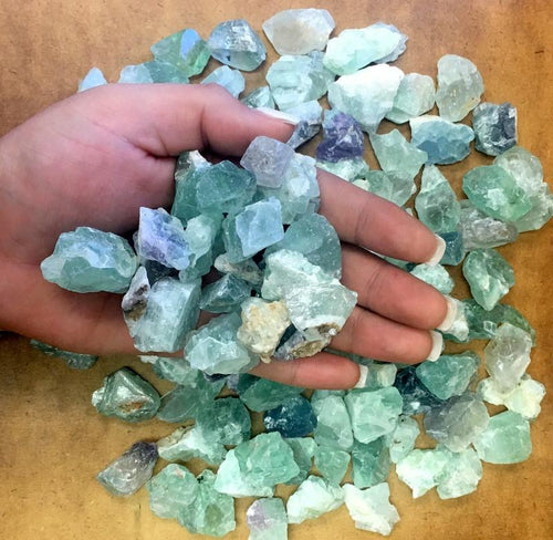 Fluorite - Green Fluorite - Chakra - Stones By Pound - Wholesale Stones - 1 Pound Bag - (RK401B9)