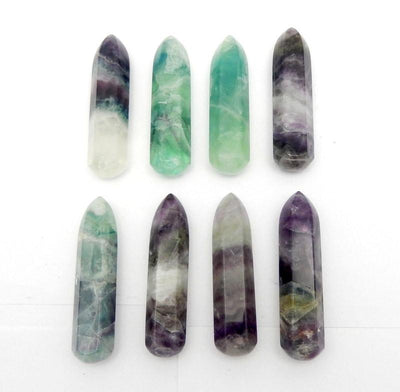Fluorite Massage Wand - Beautiful Fluorite - Reiki - Chakra -Power Stone - Jewelry Making - Bulk Of 10 - (RK22B1)