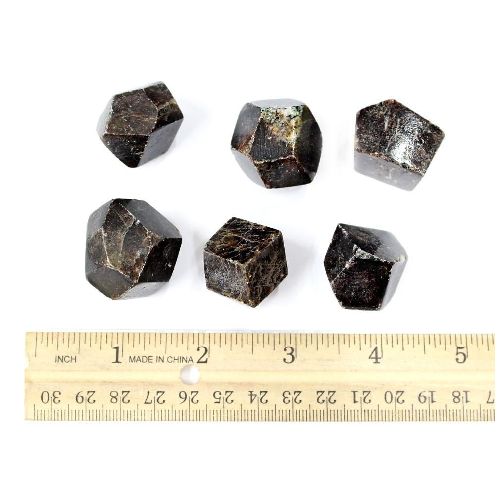 "Garnet - Garnet Stone - Polygonal Shape 1.3"" - Garnet From Pakistan - Energy Stone, Crystal Grid, Sacred Space, Meditation (RK99B1)"