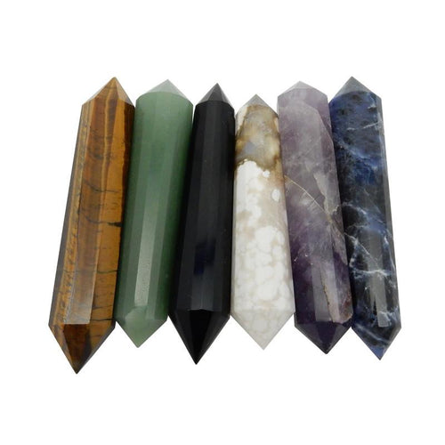 Gemstone Point - Gemstone Point - Large Double Terminated Gemstone Point - Wand - Decor - (RK120B4) (RK120B3)