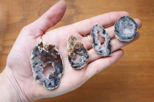Geode Slices - Agate Slice -Occo Geode Agate Slices Highest Special A Quality - Geode Slices - Buy 1, 5, 10, 25, Or 50 Wire Wrapping   (RK19B5)