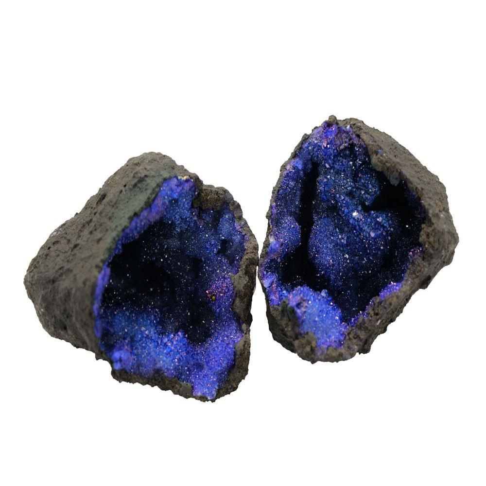 Geodes - Break Your Own Geode - Blue Color Dyed Druzy Geodes - Gorgeous Display Piece (OB6B6)
