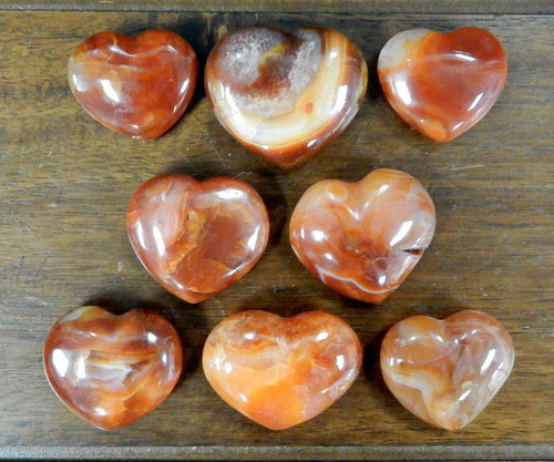 Heart - Carnelian Heart Shaped Stone - Chakra - Metaphysical - Reiki (RK143B14)