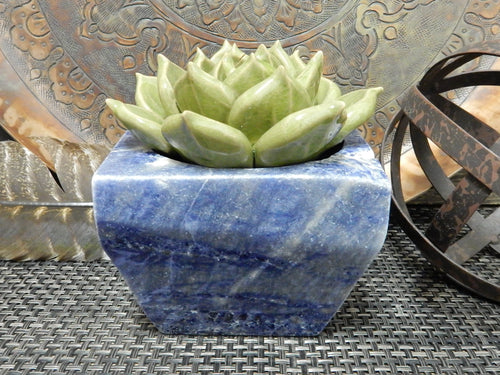 Home Decor - Carved Natural Stone Pot - Choose Your Stone - Home Decor (LB-200)