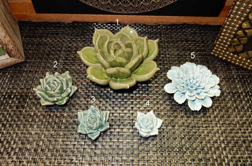 Home Decor - Ceramic Succulents - Choose Your Size- Home Decor