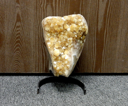 "Home Decor - Citrine 11"" Cluster On Metal Stand - Home Decor - (LB-99)"