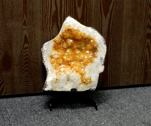 "Home Decor - Citrine 14"" Cluster On Metal Stand - Home Decor - (LB-102)"