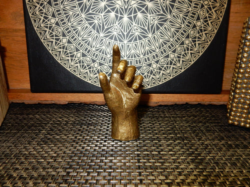 Home Decor - Gold Colored Statue Hand (BS-12)