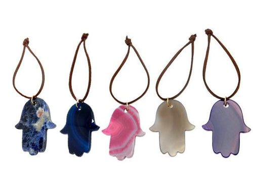 Agate Hamsa Hand Christmas Ornaments - Home Decorations for Holidays - Christmas Tree Ornaments