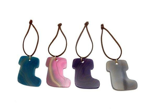Agate Boot Christmas Ornaments - Home Decorations for Holidays - Christmas Tree Ornaments