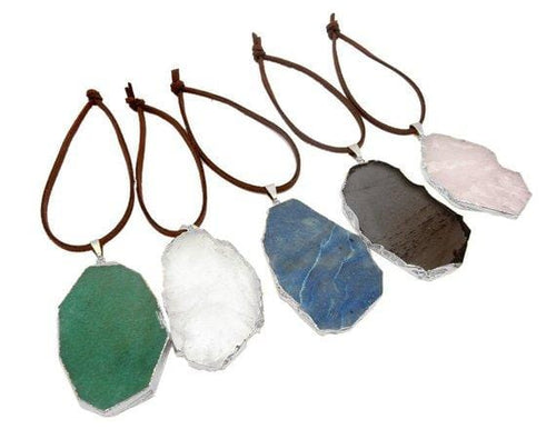 Freeform Silver Gemstone Christmas Ornaments - Home Decorations for Holidays
