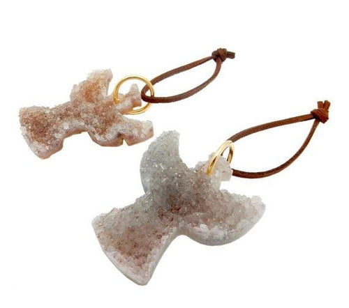 Druzy Angel Gemstone Christmas Ornaments - Home Decorations for Holidays - Christmas Tree Ornaments