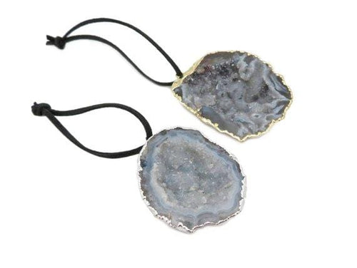 Geode Half Christmas Ornaments - Home Decorations for Holidays - Christmas Tree Ornaments
