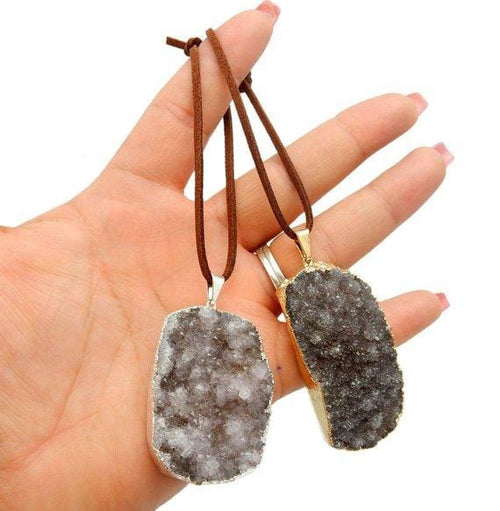 Gold or Silver Freeform Druzy Christmas Ornaments - Home Decorations for Holidays