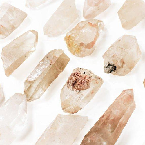 Pink Lemurian Point - Chakra Cleansing Crystal Points Healing Stones