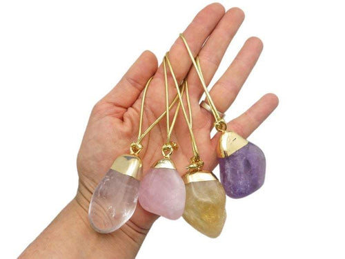 Tumbled Stone Gold Christmas Ornaments - Home Decorations for Holidays - Christmas Tree Ornaments