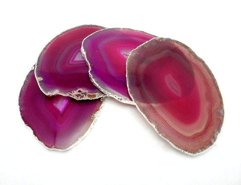 Dark Pink Geode Slice - Agate Druzy Slice - Jewelry Supplies - Hippie Style (RK84B5)