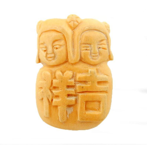 Chinese Carved Bone Top to Bottom Drilled Bead (RK60B16-01)