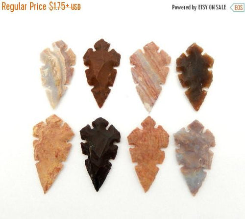"Jasper Arrowhead - Carving Jasper 2"" Inch Arrow Head Perfect For Wire Wrapping-- (RK12B2-03)"