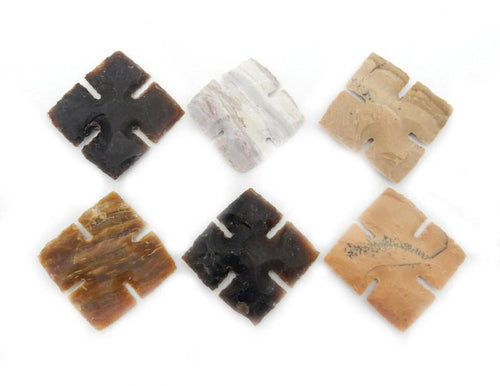 Jewelry Supplies - Light Colored Jasper Cross -- Raw Jasper Cross Perfect For Wire Wrapping-- (RK164B4)