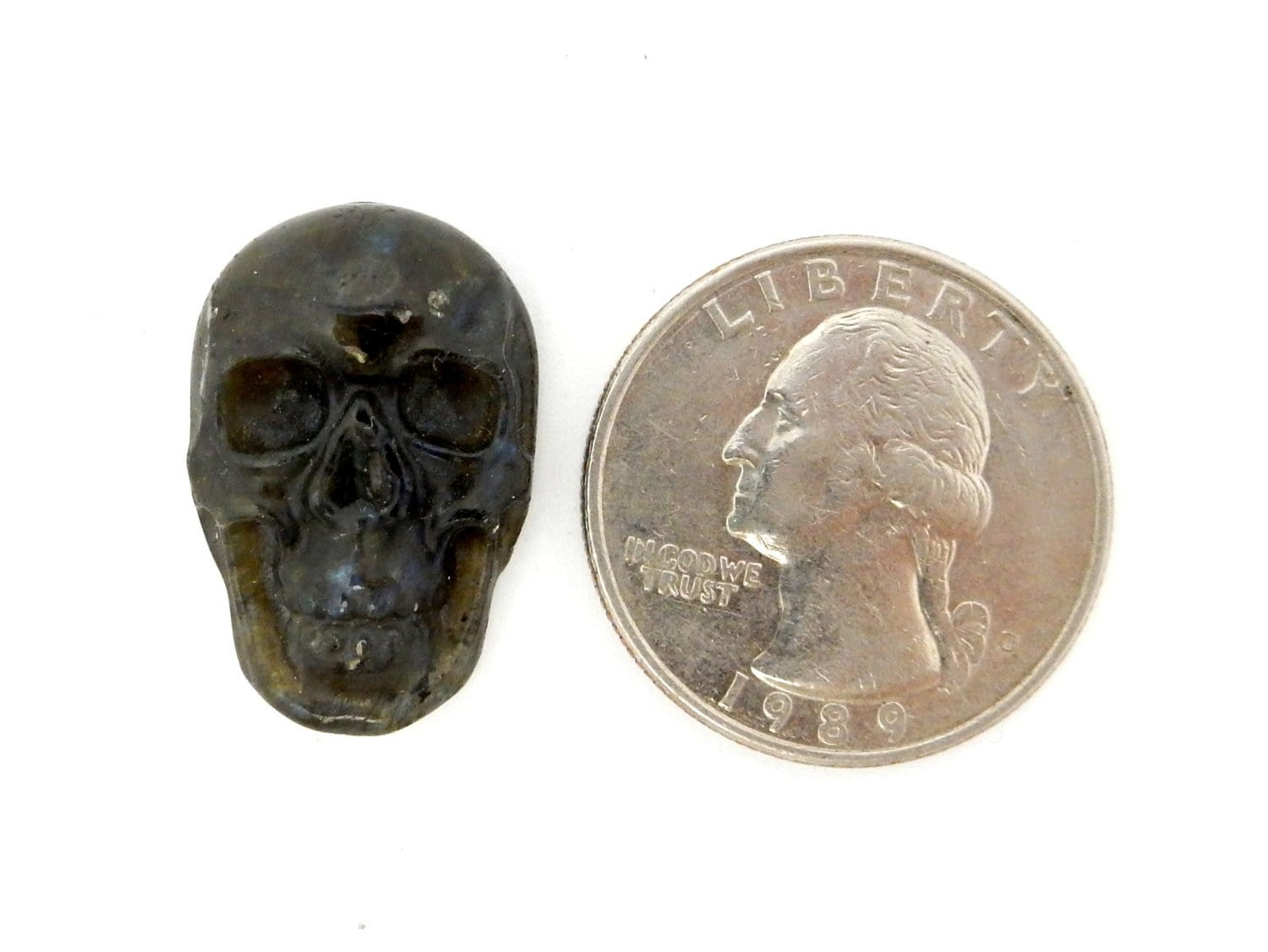 Jewelry Supplies - Skull Shaped Labradorite Cabochon - (RK78B17-08)