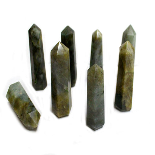Labradorite Crystal Tower Obelisk Point - Wire Wrapping - Chakra - Reiki - Crystal Grids - Energy Balancing (RK34B3b)