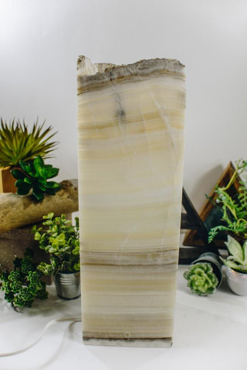 Mexican Onyx Tall Squared Lamp (LAMP11)