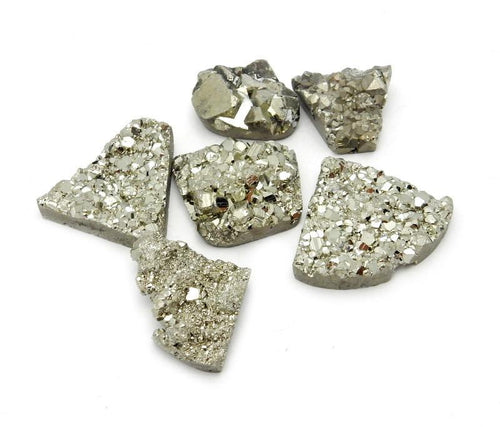 Large Pyrite Mixed Shape Cabochon - Chakra Reiki Jewelry Supply - (RK7B18-01)