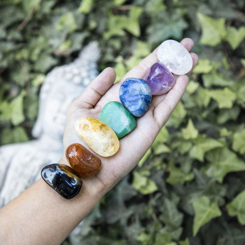 Chakra Stones Set of 7 Tumbled Stones A Quality - (LB-500)