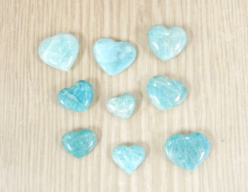 Metaphysical - Amazonite Heart Shaped Stone - Chakra - Metaphysical - Reiki (RK140B5)