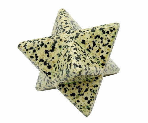 Metaphysical - Dalmatian Jasper Merkaba Star- Merkabah - Metaphysical - Meditation