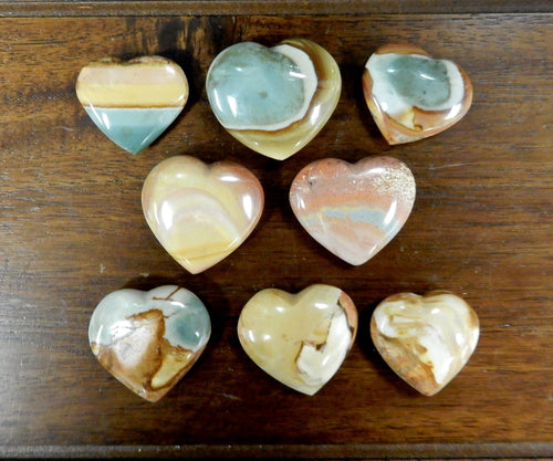 Metaphysical - Jasper Heart Shaped Stone - Chakra - Metaphysical - Reiki (RK143B13)