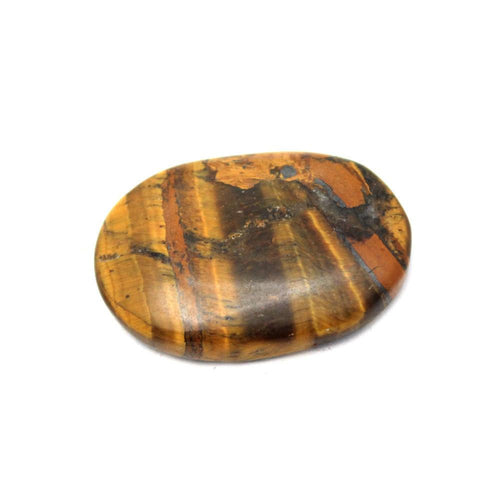 Metaphysical - Tiger Eye Worry Stone Slab - Thumb Stone - Palm Stone - Metaphysical - Chakra - (RK46B7b-03)
