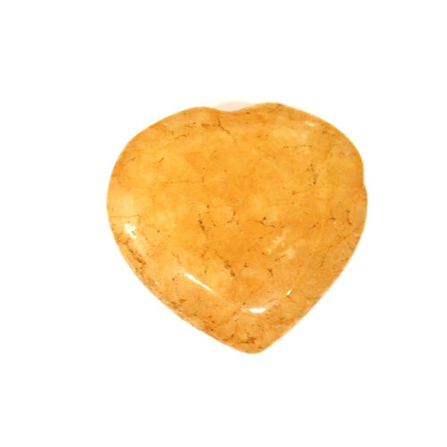 Metaphysical - Yellow Aventurine Heart Shaped Stone - Chakra - Metaphysical (RK140B14-05)