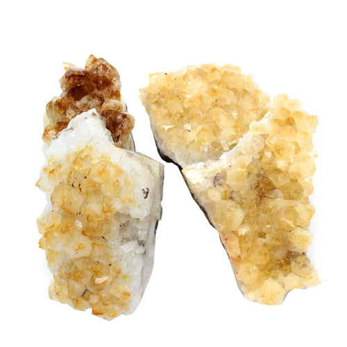 Minerals - 1/2 Lb Citrine Cluster - Natural Raw Citrine Cluster Power Stone - A Grade From Brazil- Half Pound - Citrine Crystal - RK81B2